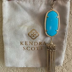 Kendra Scott Rayne Necklace- gold, turquoise